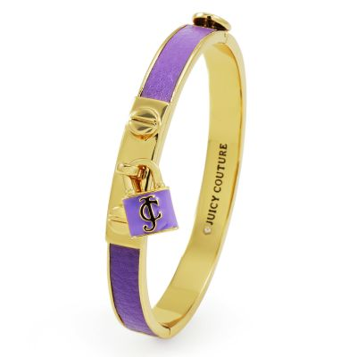 Biżuteria damska Juicy Couture Jewellery Jc Padlock Leather Bangle WJW499-530