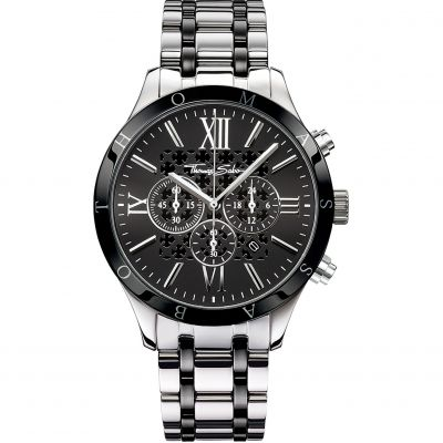Mens Thomas Sabo Rebel Urban Chronograph Watch WA0139-222-203-43MM