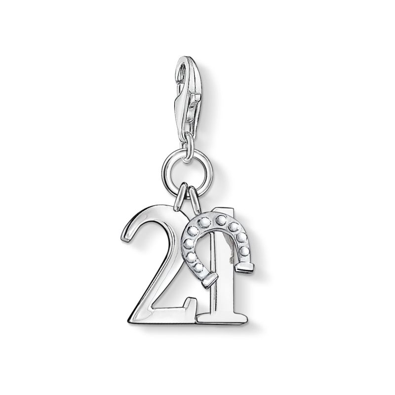 Thomas Sabo Charm Club Lucky Number 21 Charm 0460-001-12