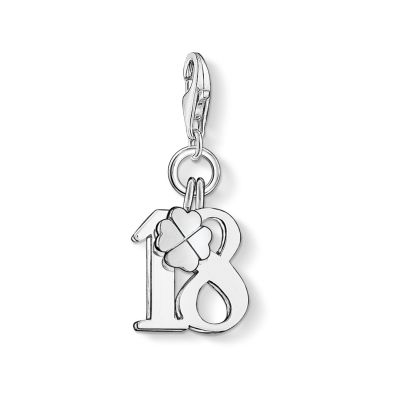 Ladies Thomas Sabo Sterling Silver Charm Club 18 Charm 0473-001-12