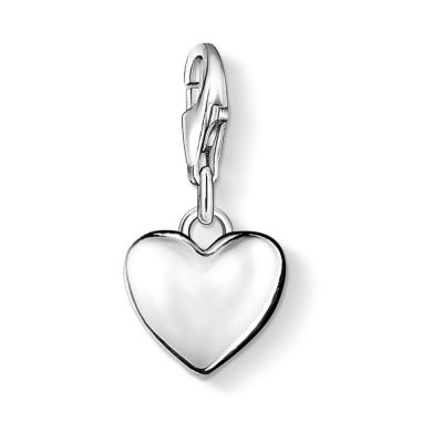 Ladies Thomas Sabo Sterling Silver Charm Club Heart Charm 0913-001-12