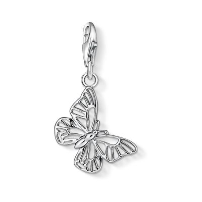 Damen Thomas Sabo Charm Club Butterfly Charm Sterling-Silber 1038-001-12