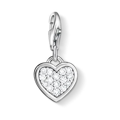Damen Thomas Sabo Charm Club Heart Charm Sterling-Silber 0967-051-14