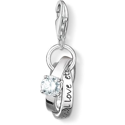 Thomas Sabo Dames Charm Club Wedding Rings Charm Sterling Zilver 0673-051-14