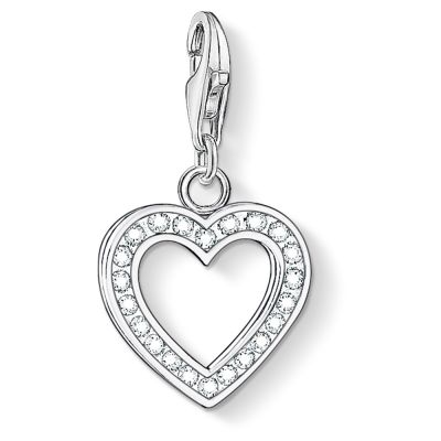 Damen Thomas Sabo Charm Club Heart Charm Sterling-Silber 0018-051-14