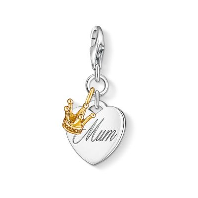 Ladies Thomas Sabo Sterling Silver Charm Club Mum Charm 1060-413-12