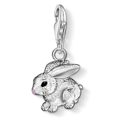 Thomas Sabo Dames Charm Club Rabbit Charm Sterling Zilver 0819-007-12