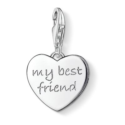 Ladies Thomas Sabo Sterling Silver Charm Club My Best Friend Charm 0799-001-12