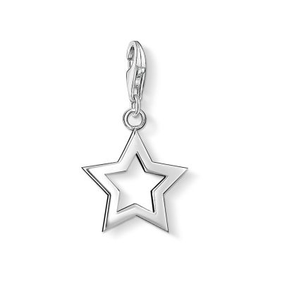 Damen Thomas Sabo Charm Club Star Charm Sterling-Silber 0857-001-12