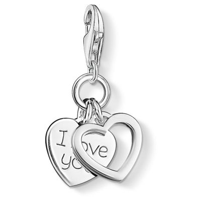 Thomas Sabo Dames Charm Club I Love You Charm Sterling Zilver 0852-001-12
