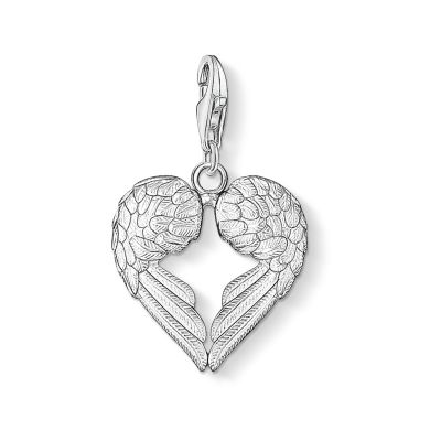 Thomas Sabo Dames Charm Club Heart Wings Charm Sterling Zilver 0613-001-12