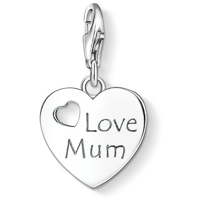 Ladies Thomas Sabo Sterling Silver Charm Club Love Mum Charm 1055-001-12