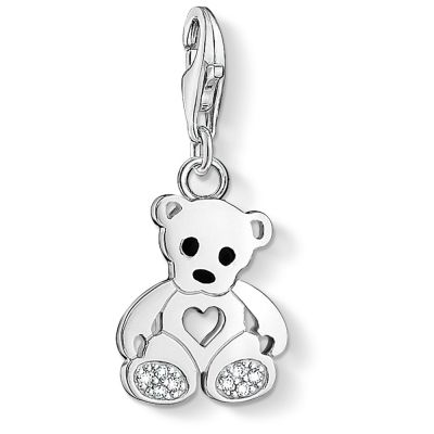 Ladies Thomas Sabo Sterling Silver Charm Club Teddy Bear Charm 1119-041-14