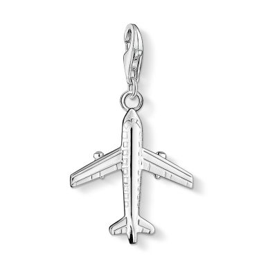 Damen Thomas Sabo Charm Club Aircraft Charm Sterling-Silber 0030-001-12