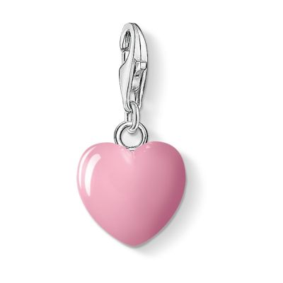 Thomas Sabo Dames Charm Club Heart Charm Sterling Zilver 0565-007-9