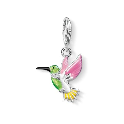 Thomas Sabo Dames Charm Club Hummingbird Charm Sterling Zilver 0655-007-7
