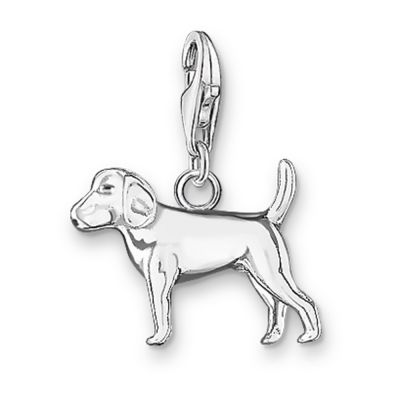 Thomas Sabo Dames Charm Club Dog Charm Sterling Zilver 0482-001-12