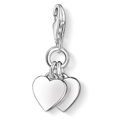 Damen Thomas Sabo Charm Club Double Heart Charm Sterling-Silber 0836-001-12