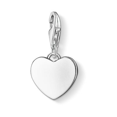 Thomas Sabo Dames Charm Club Heart Charm Sterling Zilver 0766-001-12