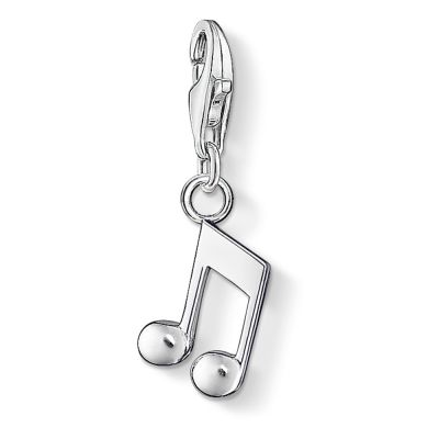 Thomas Sabo Dames Charm Club Music Note Charm Sterling Zilver 0846-001-12