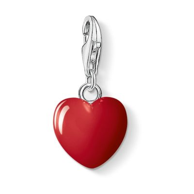 Ladies Thomas Sabo Sterling Silver Charm Club Small Heart Charm 0125-007-10