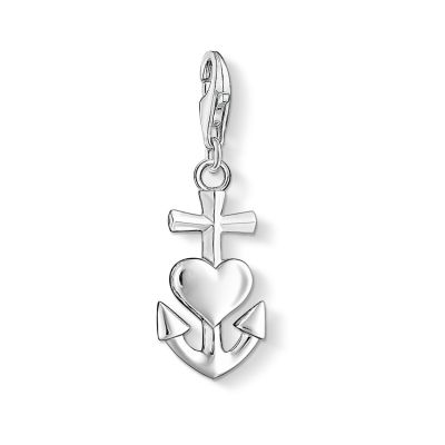 Damen Thomas Sabo Charm Club Faith, Love, Hope Charm Sterling-Silber 0083-001-12