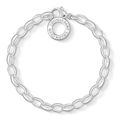 Ladies Thomas Sabo Sterling Silver Charm Club Charm Bracelet X0032-001-12-M