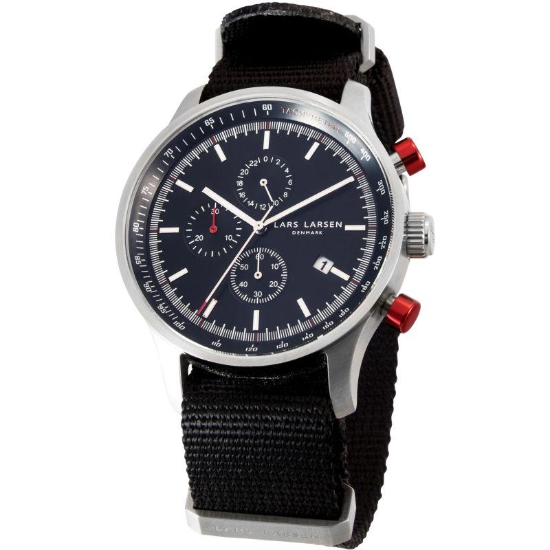 Mens Lars Larsen Tachymeter Chronograph Watch
