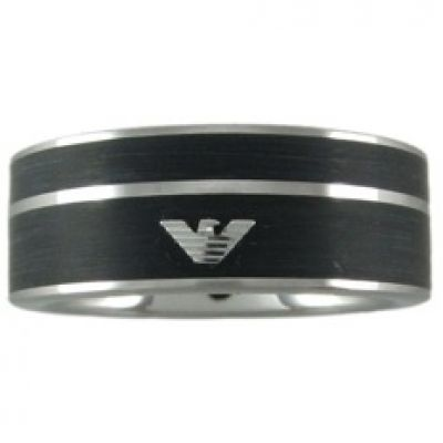 Mens Emporio Armani Stainless Steel Size U Ring EGS2032040512