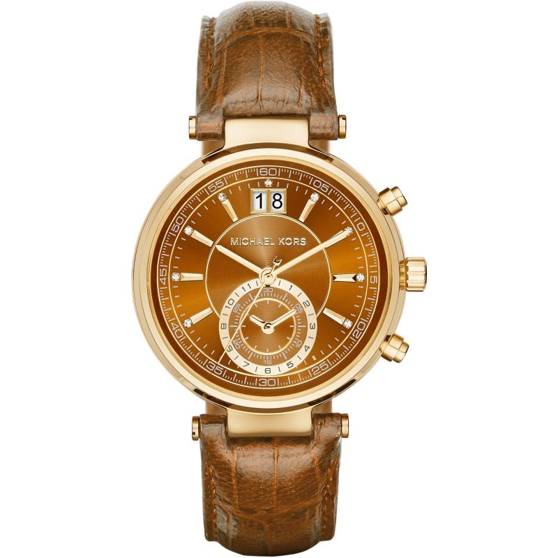 Ladies Michael Kors Sawyer Chronograph Watch