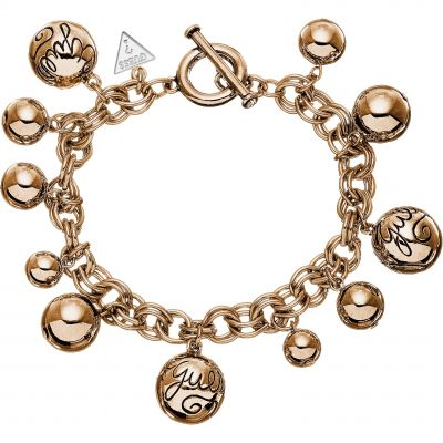 Ladies Guess Bauble Rose Gold Bracelet UBB51201