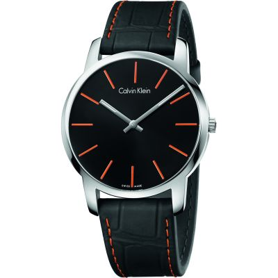 Calvin Klein City Herrenuhr in Schwarz K2G211C1