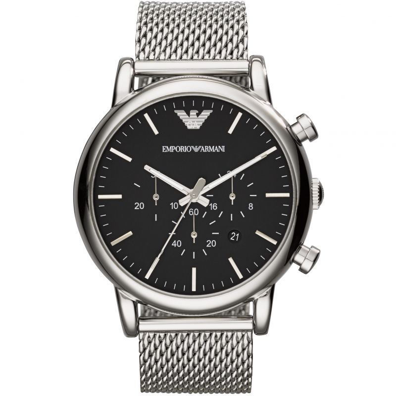 Mens Emporio Armani Chronograph Watch AR1808