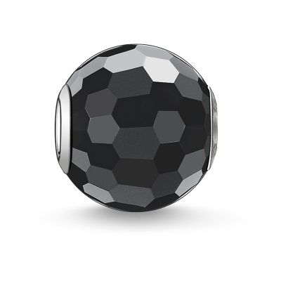Biżuteria THOMAS SABO Jewellery Karma Beads - Obsidian Faceted Bead K0003-023-11