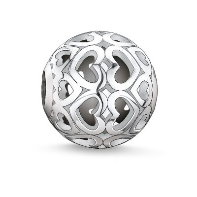 Thomas Sabo Dames Karma Beads - Hearts Bead Sterling Zilver K0006-001-12