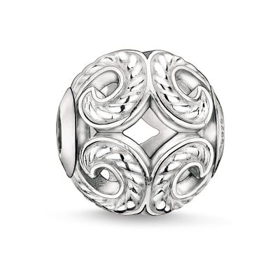 Thomas Sabo Dames Karma Beads - Wave Bead Sterling Zilver K0017-001-12