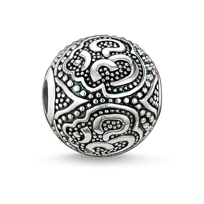 Thomas Sabo Dames Karma Beads Om Bead Sterling Zilver K0042-001-12