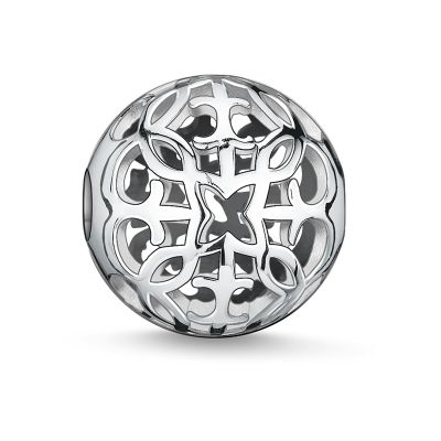 Ladies Thomas Sabo Sterling Silver Karma Beads - Arabesque Bead K0052-001-12