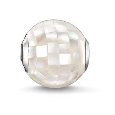 Biżuteria damska Thomas Sabo Jewellery Karma Beads White Mother Of Pearl Faceted Bead K0129-029-14
