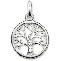 Ladies Thomas Sabo Sterling Silver Karma Beads Tree of Life Pendant KC0002-051-14