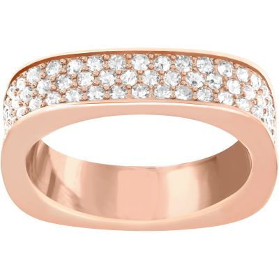 Ladies Swarovski PVD rose plating Size S Vio Ring 60 5139705