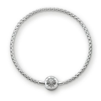 Ladies Thomas Sabo Sterling Silver Karma Beads Bracelet KA0001-001-12-L21