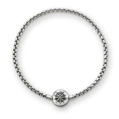 Ladies Thomas Sabo Sterling Silver Karma Beads Bracelet 18Cm KA0002-001-12-L18