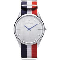Mens Kennett Kensington Silver White RWB Nato Watch