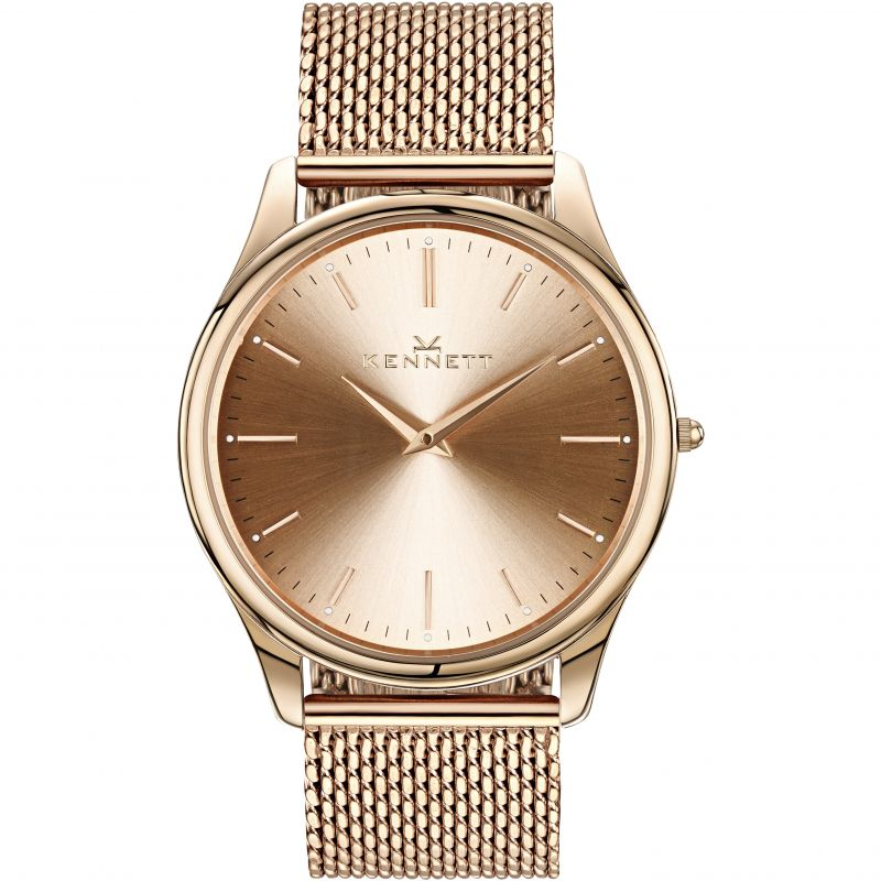 Mens Kennett Kensington Rose Gold Milanese Watch