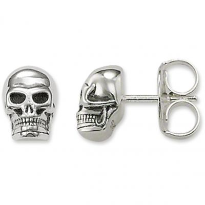 Unisex Thomas Sabo Rebel At Heart Skull Stud Ohrringe Sterling-Silber H1731-001-12