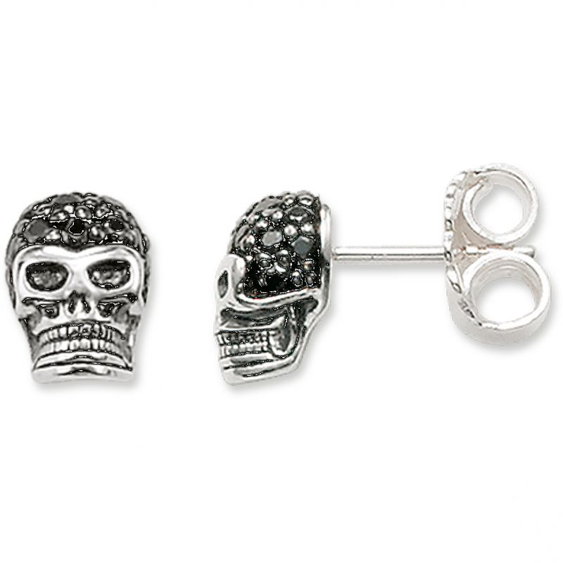Ladies Thomas Sabo Sterling Silver Rebel At Heart Stud Earrings