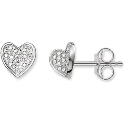 Thomas Sabo Dam Glam & Soul Heart Stud Earrings Sterlingsilver H1863-051-14