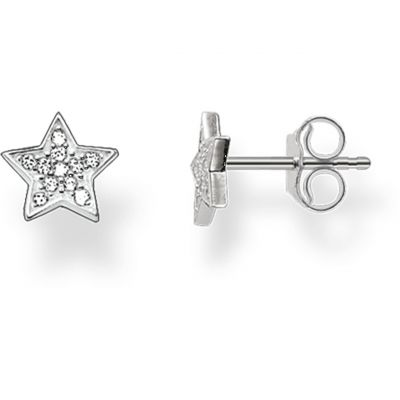 Ladies Thomas Sabo Sterling Silver Glam & Soul Star Stud Earrings H1868-051-14