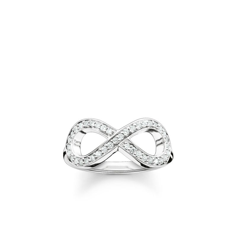 Ladies Thomas Sabo Sterling Silver Size P.5 Glam & Soul Infinity Ring TR2014-051-14-56
